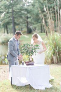 cerimonia simbolica matrimonio tree planting